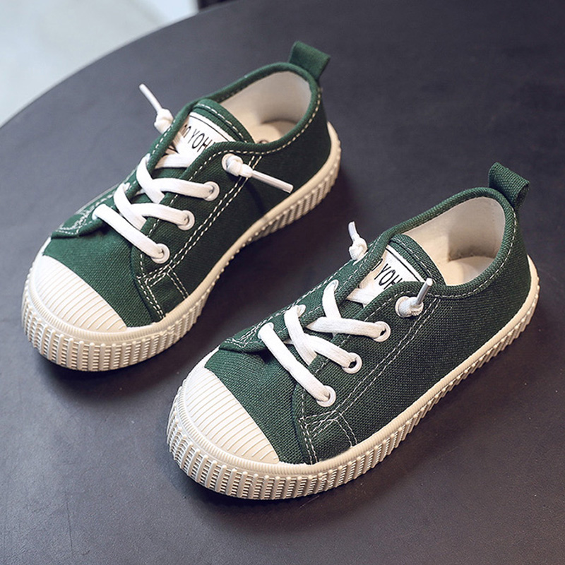 Kids Simple Canvas Shoes Boys Sneakers