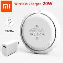 Original 20W Xiaomi Wireless Charger Fast Charge 27Wอะแดปเตอร์Mi 9 MiX 2S Qi EPP10WสำหรับiPhone 8 XS XR XSสูงสุด11 PRO MAX