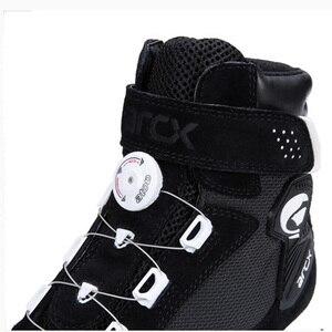 Image 5 - ARCX motosiklet botları Botas Moto erkekler Motor Motocross ayakkabı motosiklet Biker Chopper Cruiser Touring ayak bileği ayakkabı ayar düğmesi