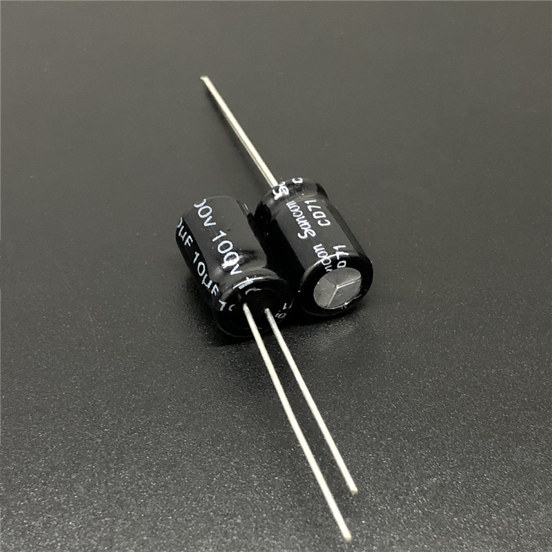 10Pcs/100Pcs 10uF 100V Sancon CD71 8x12mm 100V10uF NP Bipolar Non-Polar Capacitor