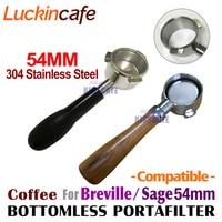 54mm Kaffee Boden Siebträger Für Breville 870/878/880 Filter Korb Edelstahl Ersatz Espresso Maschine Zubehör-in Kaffeezubehör-Sets aus Heim und Garten bei