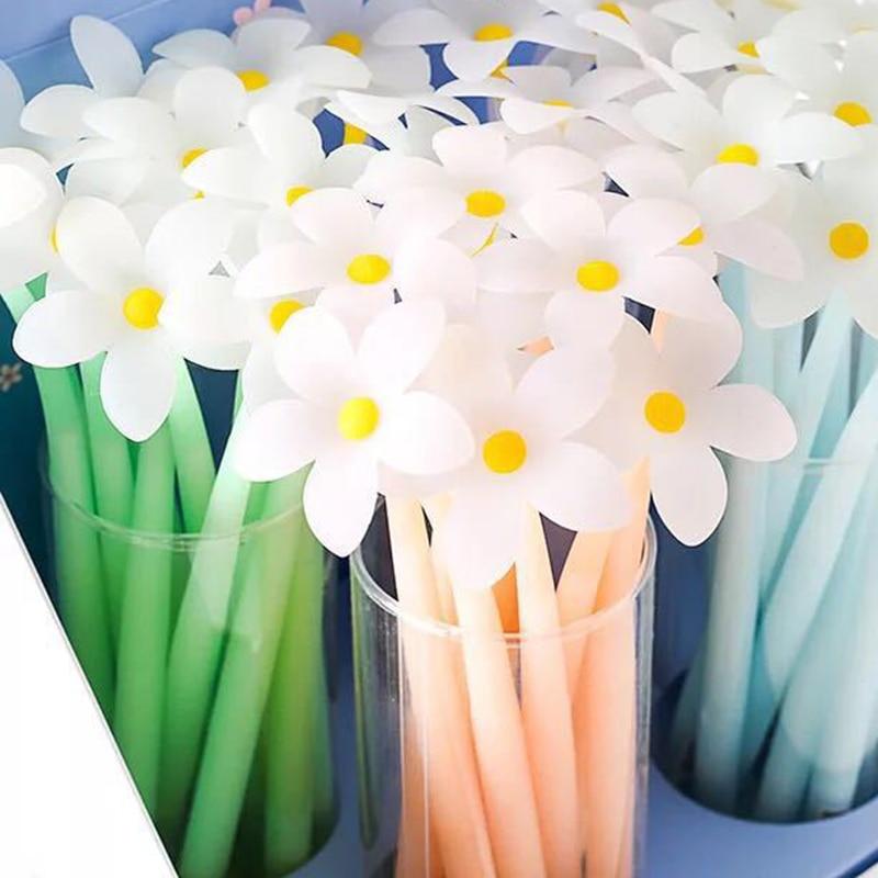 Волшебная ручка! Гелевая ручка с цветком персика, которая может менять цвет, цветная ручка 4 шт./лот
