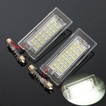 2Pcs Car License Plate Lights DC 12V 18 LED Number Lamps Plate Light Tail Light for BMW X5 E53 X3 E83 Car Led Light Lightings image