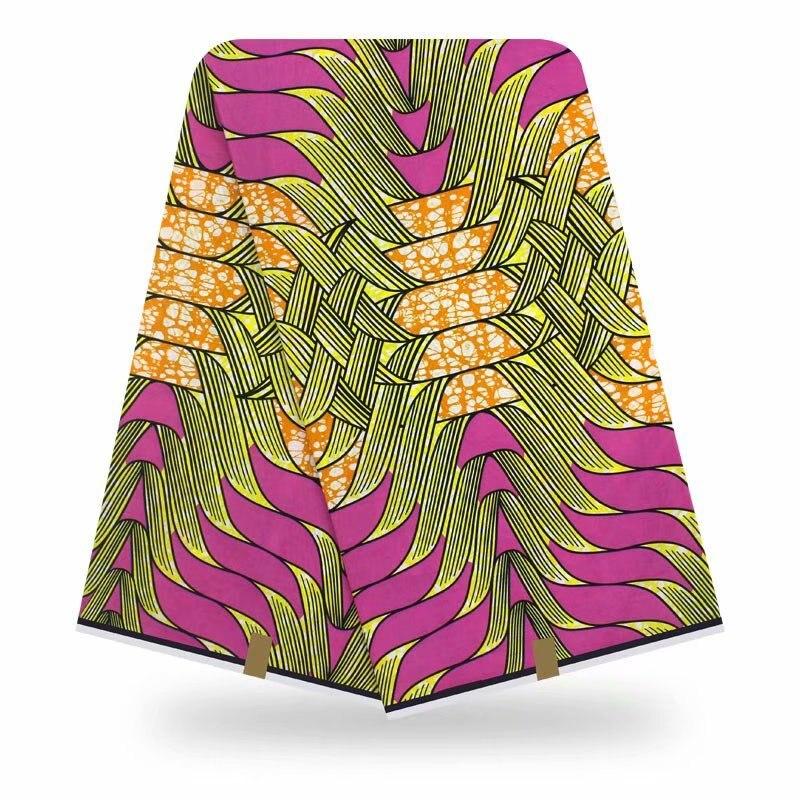 2020 Best Quality Dashikiage New Arrival African Pagne Ghana Veritable Real Dutch Wax Fabric 100% Cotton Waxe De Haut Qualité