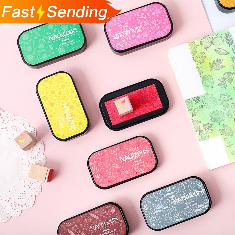 JIANWU 1PC 12Color Colorful Candy In Heart-shaped Decoration InkPad DIY Seal Accessories Bullet Journal Supplies