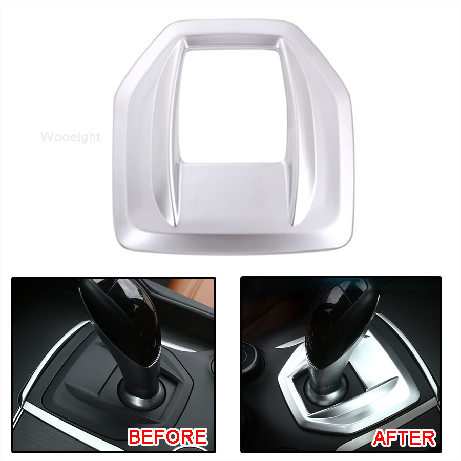 Wooeight ABS Gearshift Box Transmission Shift Gear Panel Cover Decoration Trim Fit For Alfa Romeo Giulia Stelvio 2017 2018 2019|Interior Mouldings| |  - title=