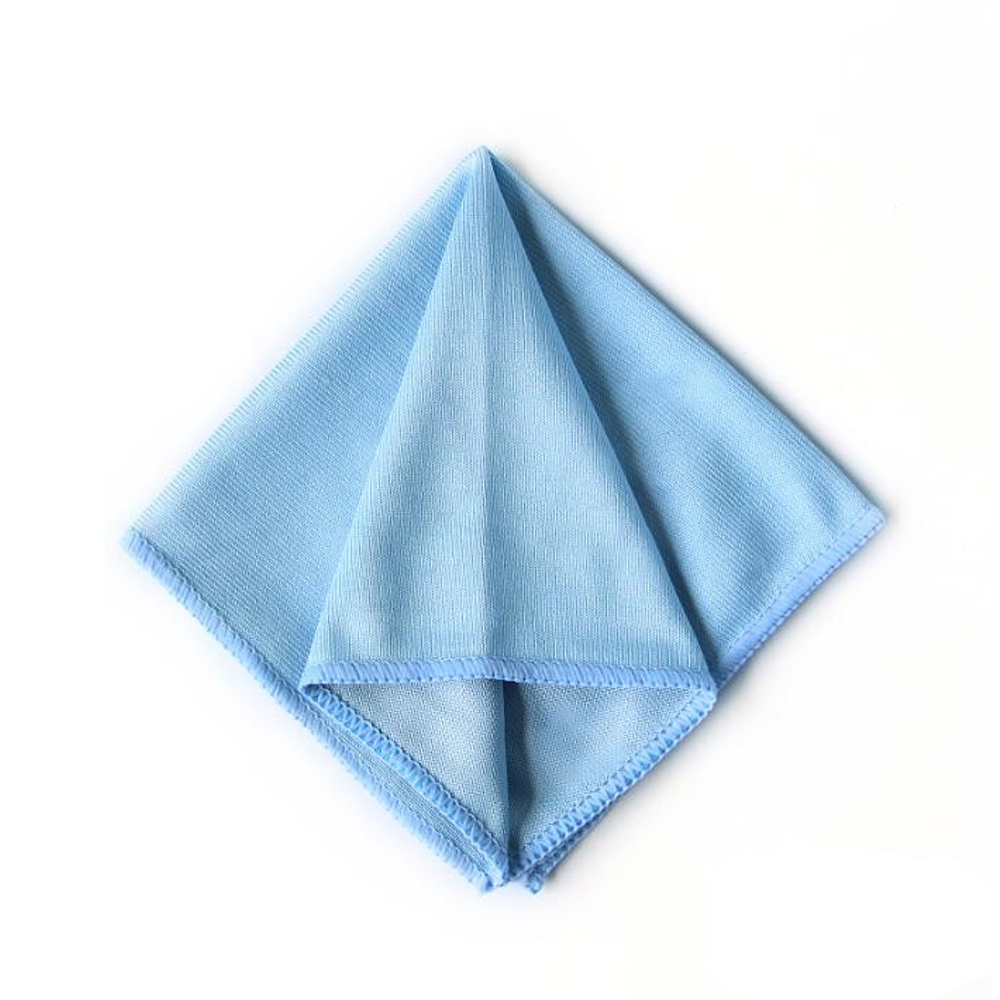 Полотенце из микрофибры для очистки стекла автомобиля, 1 шт., блестящая ткань из нержавеющей стали для полировки окон, 12 х12 дюймов