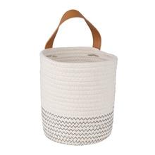 Rugged Hanging-Rope Planter Woven Flower-Holder Baskets-Storage Wall Rattan Imitation