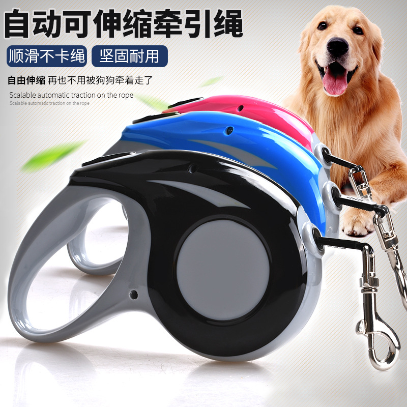 Dog Hand Holding Rope Pet Automatic Telescopic Golden Retriever Teddy Husky Large Small And Medium-sized Dogs Dog Chain Dog Rope