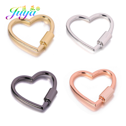 Juya 4pcs/lot Wholesale DIY Punk Jewelry Accessories Supplies Metal Screw Sprial Clasps For Handmade Pendant Jewelry Making