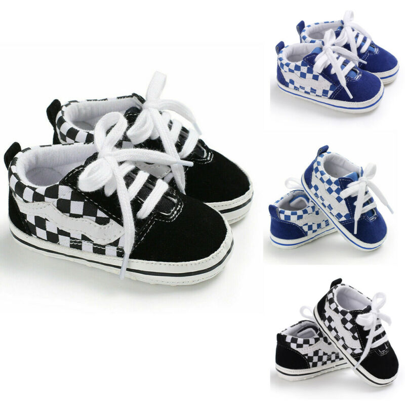 Canvas Baby Shoes Newborn Boys Girls First Walkers Infant Toddler Soft Bottom Anti-Slip Prewalker Sneakers 0-18 M