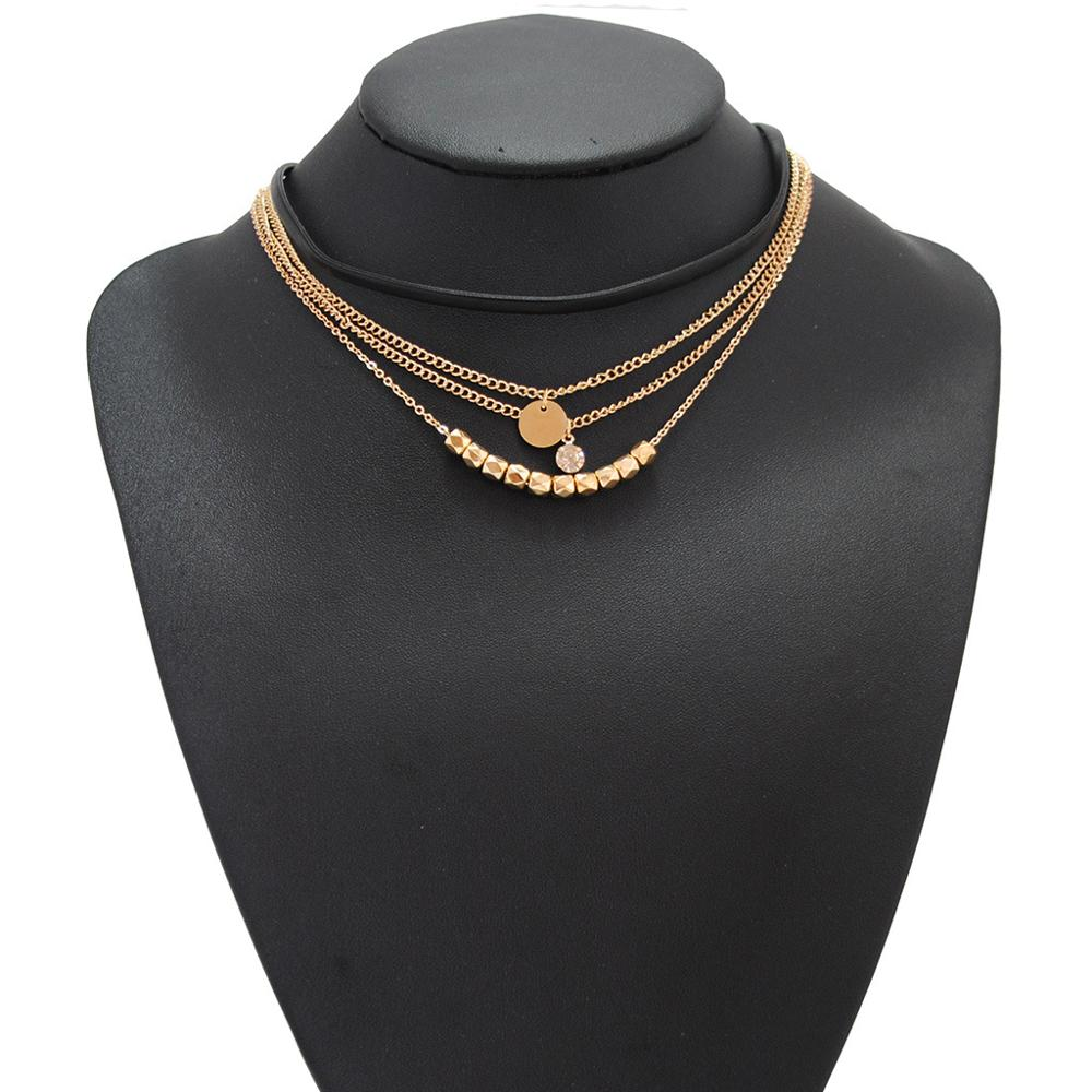 European And American Fashion Accessories 2019 New Size Electroplated Sequins And Beautiful Multi Layer Long Necklaces