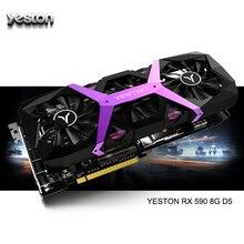 Yeston Radeon RX 590 GPU 8GB GDDR5 256bit juego de computadora de escritorio PC tarjetas gráficas apoyo DVI/HDMI/PCI E X16 3,0