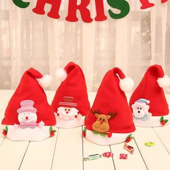 Navidad bebé sombrero recién nacido infantil chico sombreros chicos chicas invierno suave gorro Reno muñeco de nieve Santa Claus gorras fotografía Accesorios