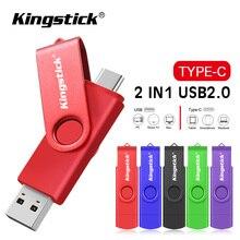 Đầy Đủ Màu Sắc TypeC 2.0 Đèn Led Cổng USB 8GB 16GB 32GB 64GB 128GB USB Bút Ổ Tốc Độ Cao Pendrives Dành Cho Điện Thoại Thông Minh/Laptop