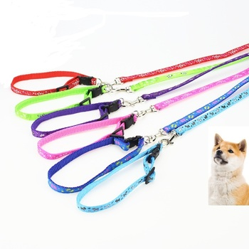 Nylon Dog Pet Puppy Cat Adjustable Harness with Lead Leash 10 Colors To Choose Toys Leash Chain Collars Interactive Toy image