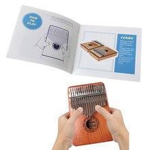 Polegar piano texto livro de aprendizagem guia amantes da música jogando instrumento kalimba folha acessórios para crianças iniciantes
