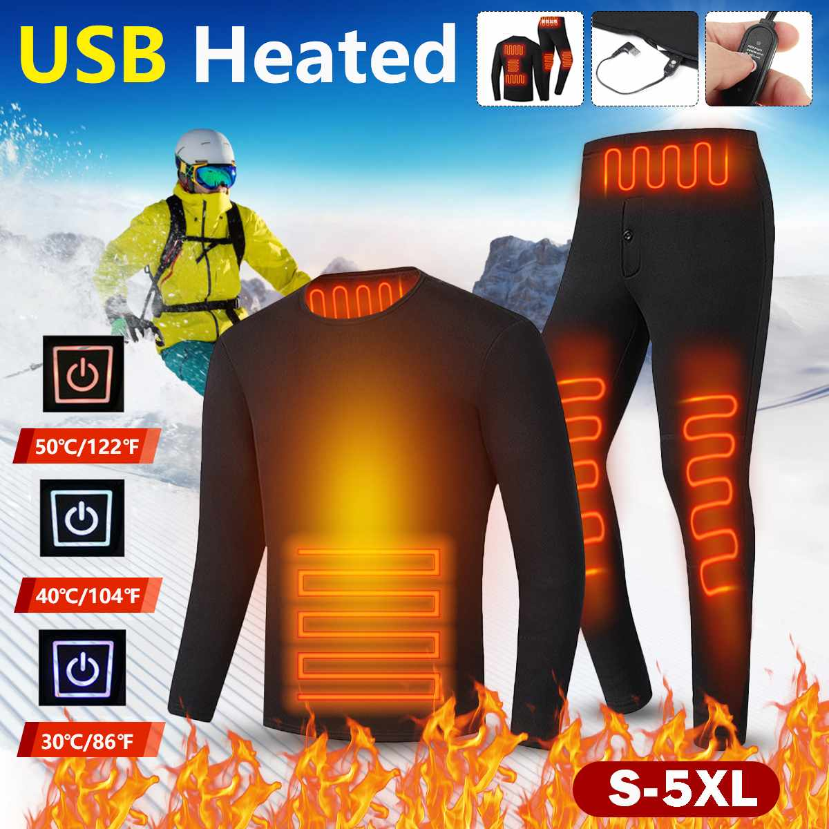 S-5XL Thermal Underwear For Men Thicken Plush Clothes Winter Seamless Antibacterial Warm Intimates Long Johns Sleeve Shaped Sets