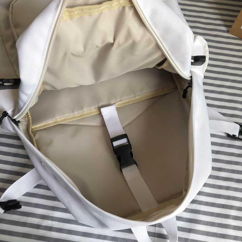 HOCODO Oxford wodoodporny plecak damski styl College Pure Color tornister dla nastoletnich dziewcząt śliczny plecak podróżny na co dzień Bookbag