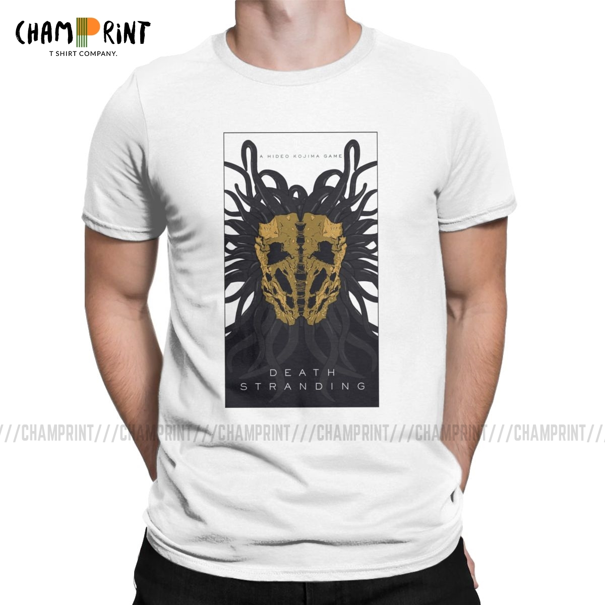 Death Stranding 4th Trailer Creature Men's T Shirts Kojima Productions Amazing Tee Shirt Round Neck T-Shirts Printed Clothes