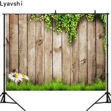 Lyavshi – arrière-plan de photographie, décor mural en bois vert, herbe de pâques, pour studio photo, pour séance photo
