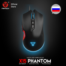 цена на FANTECH X15 USB Optical Wired Gaming Mouse Adjustable 4800 DPI 7D Macro RGB Gaming Mouse For FPS LOL Game Mouse PC