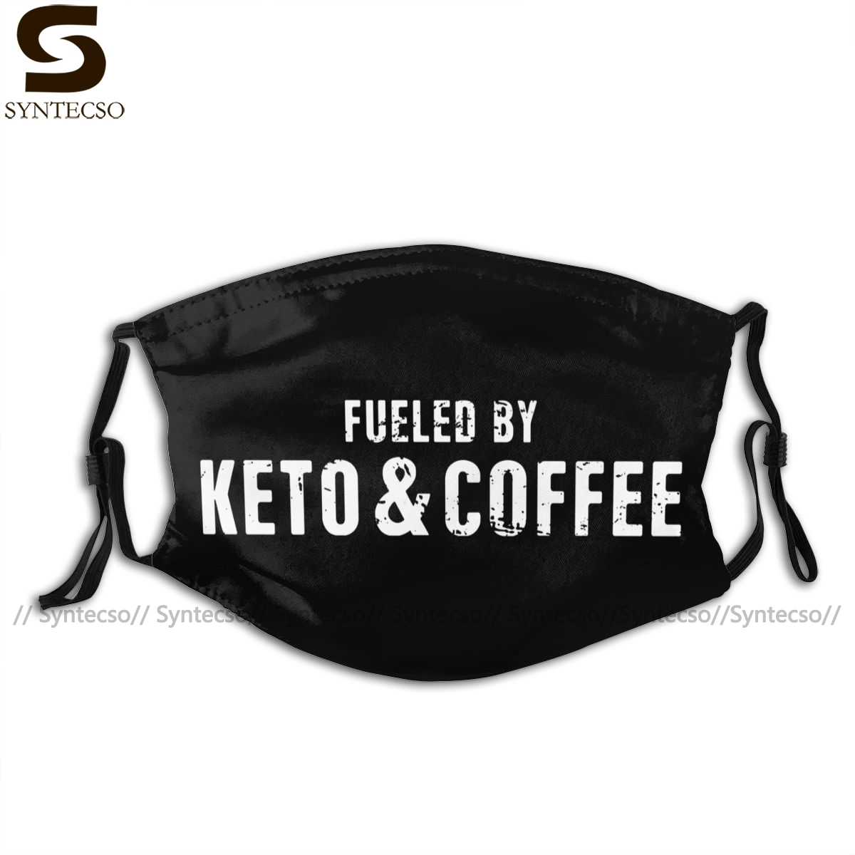 Low Carb Mouth Face Mask Fueled By Keto And Coffee Facial Mask Beautiful Polyester with 2 Filters Adult Mask