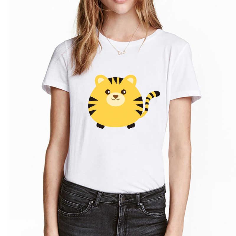 Été imprimé dessin animé graphique t-shirts esthétique Harajuku motif Animal imprimé à manches courtes femmes 2019 t-shirt en vrac