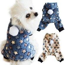 Милая одежда с принтом в виде собак комбинезон теплые зимние пальто для щенка кошки костюм для питомцев, Костюмы наряд для малых и средних собак кошек для йоркширских терьеров и чихуа-Хуа