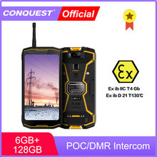 CONQUEST-teléfono inteligente S12 Pro ATEX POC/Walkie Talkie DMR, resistente al agua IP68
