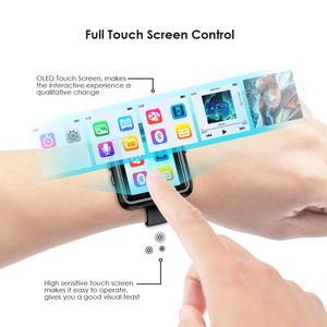 Image 5 - Bluetooth MP3 izle dokunmatik ekran 8/16GB klip MP3 çalar koşu bisiklet yürüyüş desteği kayıt, FM radyo