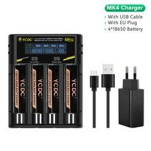 YCDC 18650 Lithium-Batterien Taschenlampe 18650 Wiederaufladbare-Batterie 3,7 V 9900 Mah für Taschenlampe + Universal Batterie Ladegerät