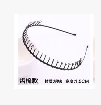 Новая мода Мужская Женская унисекс черная волнистая повязка для волос спортивная повязка для волос аксессуары для волос - Цвет: 9