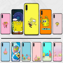 Spongebob cute faces pink Fashion cartoon Luxury Phone Case For Samsung S6 S7 edge S8 S9 S10 e plus A10 A50 A70 note8 J7 2017(China)
