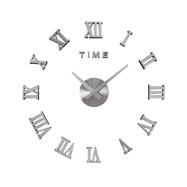 DICOR Frameless DIY Wall Clock, 3D Mirror Wall Clock Large Mute Wall Stickers for Living Room Bedroom Home Decorations Brand New 3
