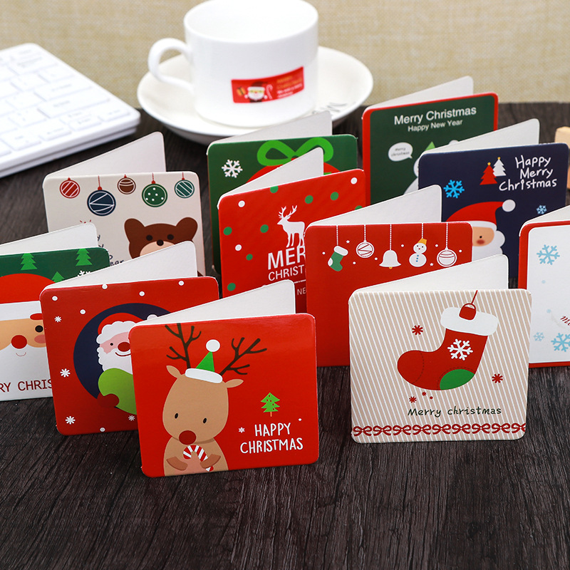 Direct Sales New Christmas Cards Customized Thanksgiving Christmas Cards Wholesale Birthday Gift Small Card Paper