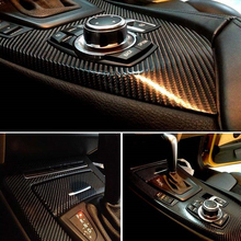 Newest  5D High Glossy Carbon Fiber Vinyl Film Car Styling Wrap Motorcycle Car Styling Accessories Interior Carbon Fiber Film high quality glossy vinyl film gloss black white wrap bubble free car wrapping for motorcycle car stickers accessories styling