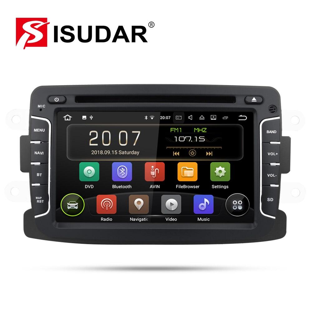 Radio Auto Isudar 2 Din Android 9 pour Dacia/Sandero/Duster/Renault/Captur/Lada/Xray 2/Logan2 lecteur vidéo multimédia de voiture GPS DVR