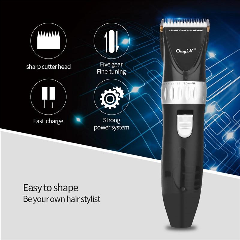 Titanium Alloy Blade Electric Hair Clipper Kit Professional Hair Trimmer Barbershop Hair Cutting Machine Home Hairstyle Tool 31