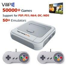 Vilips super console x pro vídeo game console wifi 4k hd para psp/ps1/n64 portátil retro tv jogos com 50 + emulador 50000 + jogos