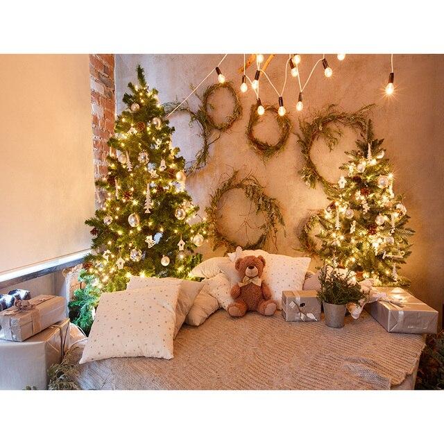 Купить фон для студийной фотосъемки shengyongbao с изображением рождественской картинки цена