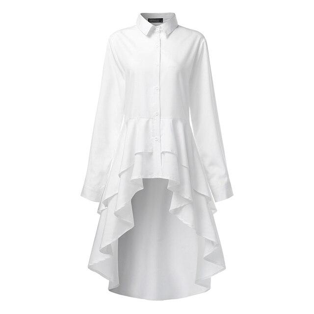 Elegant Lapel Neck Swallowtail Shirt 4