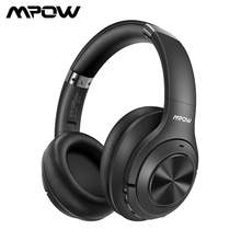 Mpow H21 Wireless Headphone Bluetooth 5.0 Noise Canceling Headphone With 40 Hours Playtime CVC6.0 Mic Deep Bass For PC Phone