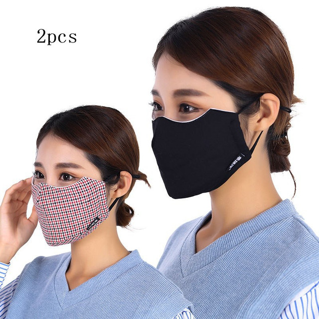 4pc Winter Mask Cotton PM2.5 Mouth Mask Anti Dust Mask Washable and Reusable Windproof Mouth-muffle Face Masks for Men and Women 1