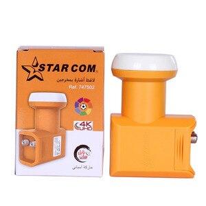 Image 5 - Star com Universal Ku Band LNB For Satellite Receiver Ultra HD 4K Signal Twin LNB Noise 0.1dB DVB S2