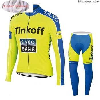 2020 Saxo bank Tinkoff Invierno Polar polar Ciclismo Jersey Ropa Ciclismo MTB...
