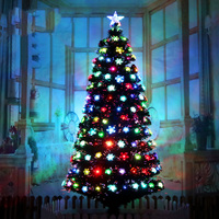 Luxury Encrypted Optical Fiber Christmas Tree LED Colorful Luminous Christmas Tree Package Merry Christmas Decoration