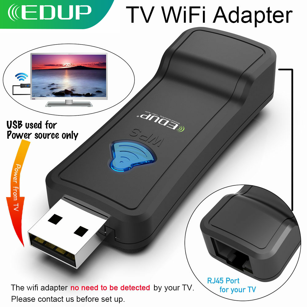 EDUP USB Wireless WIFI Repeater 300Mbps 2 4GHz WiFi Signal Amplifier WI-FI Range Extender with Lan Port Adapter for TV player