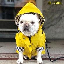 Pet cachorro casaco à prova dwaterproof água jaqueta esporte hoodies popa perro moda roupas à prova de vento e à prova de chuva moda para pequeno médio grande