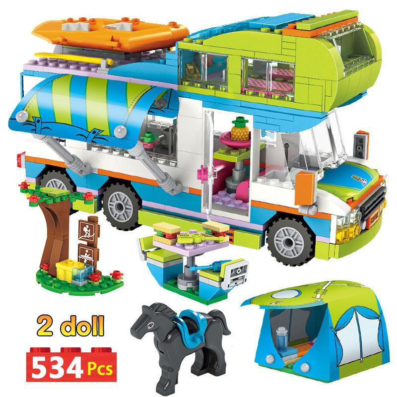 legoing city camper bus car
